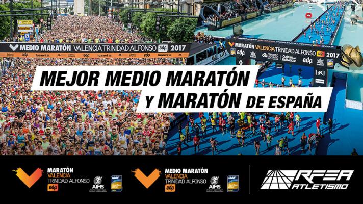 Maratón y Medio Maratón de Valencia, mejores carreras de España/Marató i Mitja Marató de Valencia, millors carreres d'Espanya