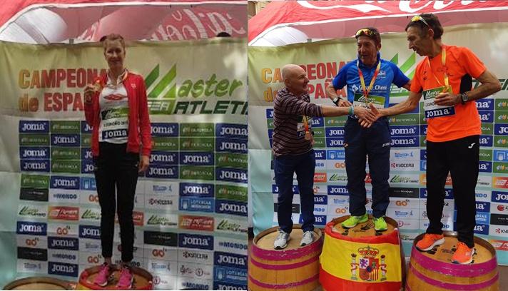 Tres preseas en el nacional máster de maratón/ Tres medalles en el nacional màster de marató