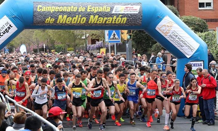 Buenos registros en el nacional de medio maratón/Bons registres en el nacional de mig marató