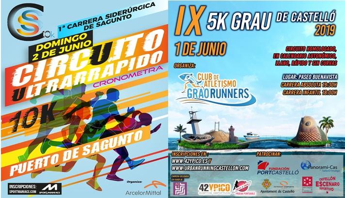 Cientos de corredores compiten en Sagunto y Castellón/Centenars de corredors competixen a Sagunt i Castelló