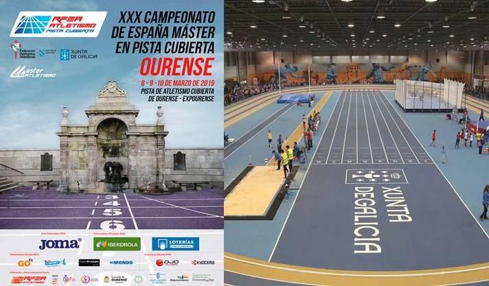Los atletas master miden sus fuerzas en Ourense/Els atletes màster mesuren les seues forces en Ourense