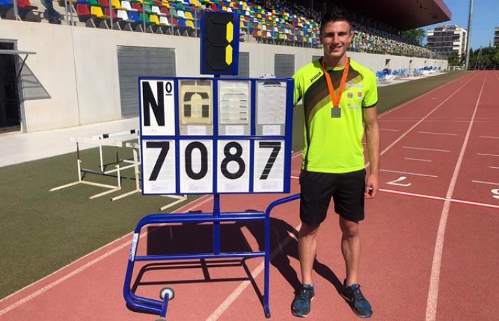 Andreu Boix, record autonómico Sub18 en decatlón/Andreu Boix, rècord autonòmic Sub18 en decatló