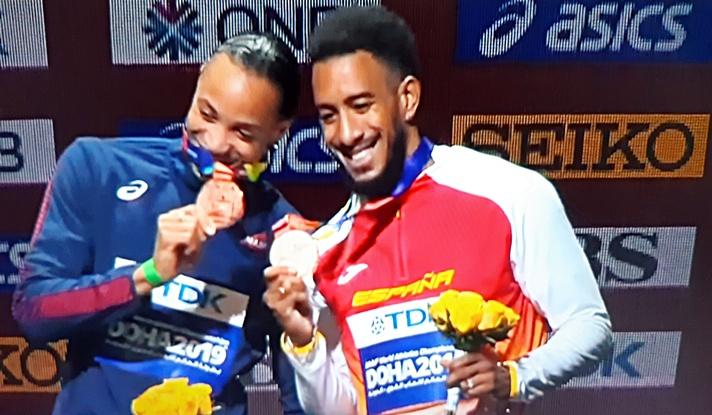 Medalla de bronce para Orlando Ortega/Medalla de bronze per a Orland Ortega