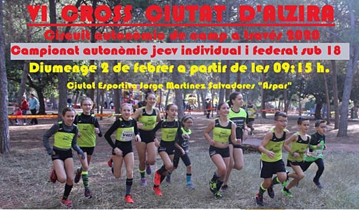 Un millar de atletas en el Cross de Alzira/Un miler d'atletes en el Cross d'Alzira