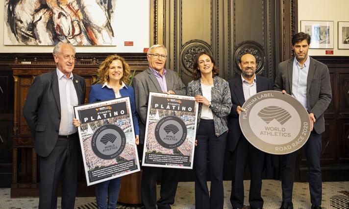 Maratón València celebra su 40 aniversario con la Etiqueta Platino/Marató València celebra el seu 40 aniversari amb l'Etiqueta Platí