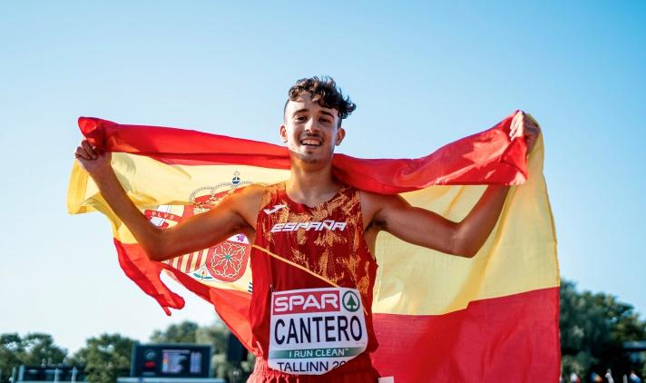 David Cantero, subcampeón de Europa en la cuarta carrera de su vida al aire libre/David Cantero, subcampió d'Europa en la quarta carrera de la seua vida a l'aire lliure
