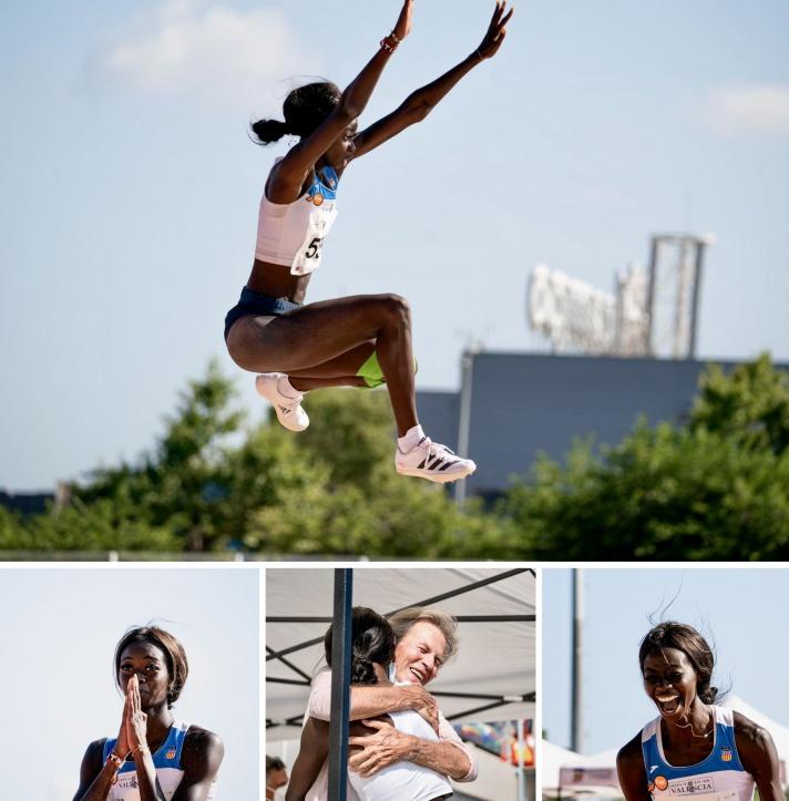 Fátima Diame logra la mínima olímpica en el último intento del último día/Fàtima Diame aconsegueix la mínima olímpica en l'últim intent de l'últim dia
