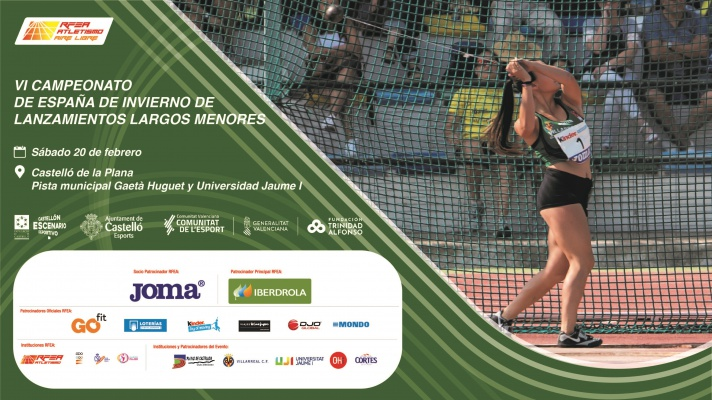 VI Campeonato de España de Lanzamientos Largos de Invierno de Menores 2021/VI Campionat d'Espanya de Llançaments Llargs d'Hivern de Menors 2021