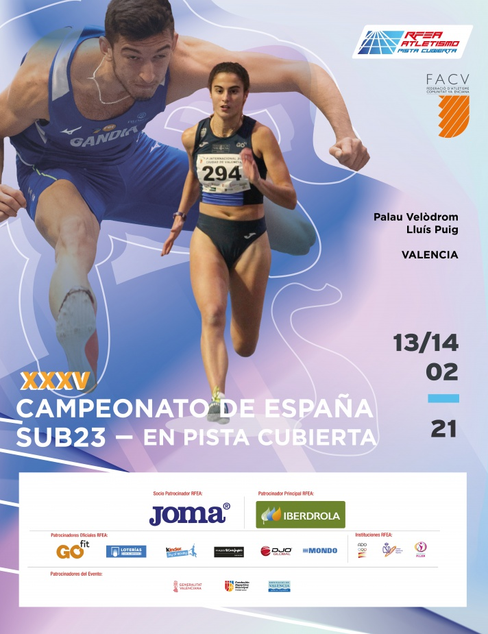Campeonato de España Sub23 en Pista Cubierta 2021/Campionat d'Espanya Sub23 en Pista Coberta 2021